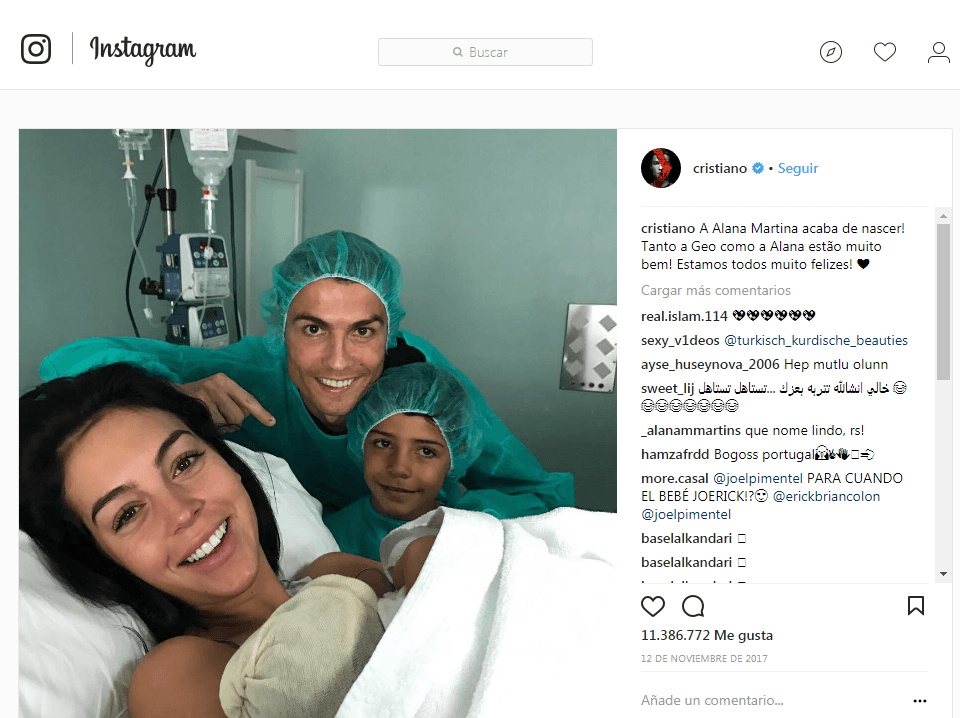 Cristiano Ronaldo most liked instagram photo