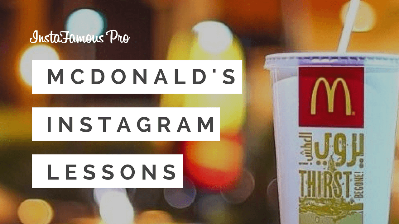 McDonald's Instagram Lessons