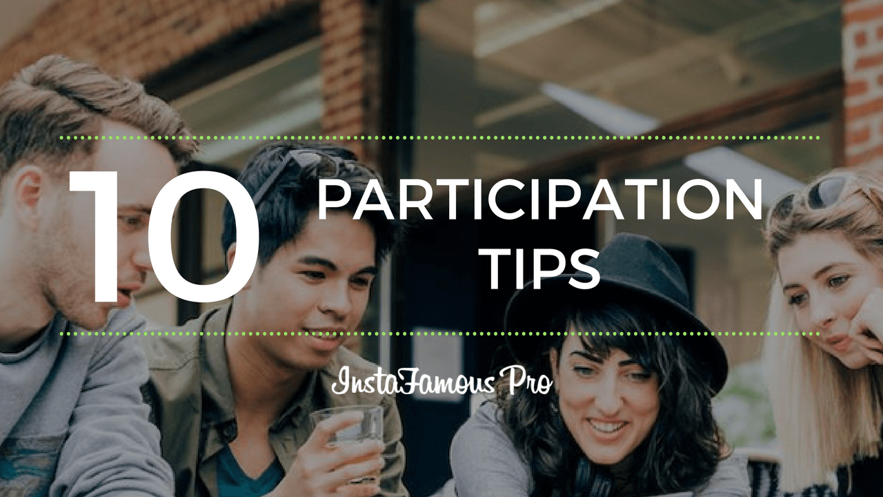 participation tips
