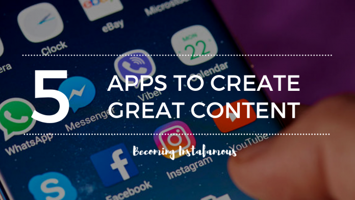 Apps to create content
