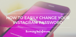 Change your Instagram password