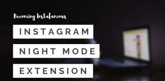 Instagram Night Mode Extension