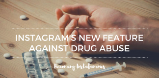 Instagram against substance abuse