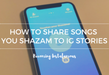 Shazam into Instagram Stories