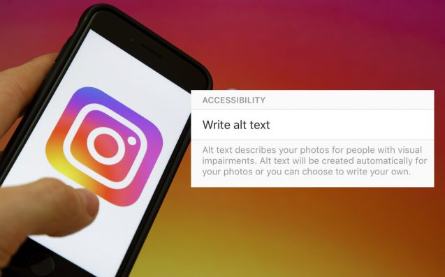 Instagram alt text for the visually impaired