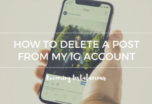 Delete an Instagram photo