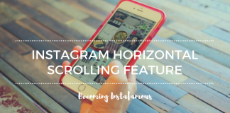 Instagram Horizontal Scrolling Feature