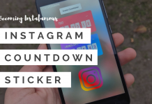 Instagram countdown sticker