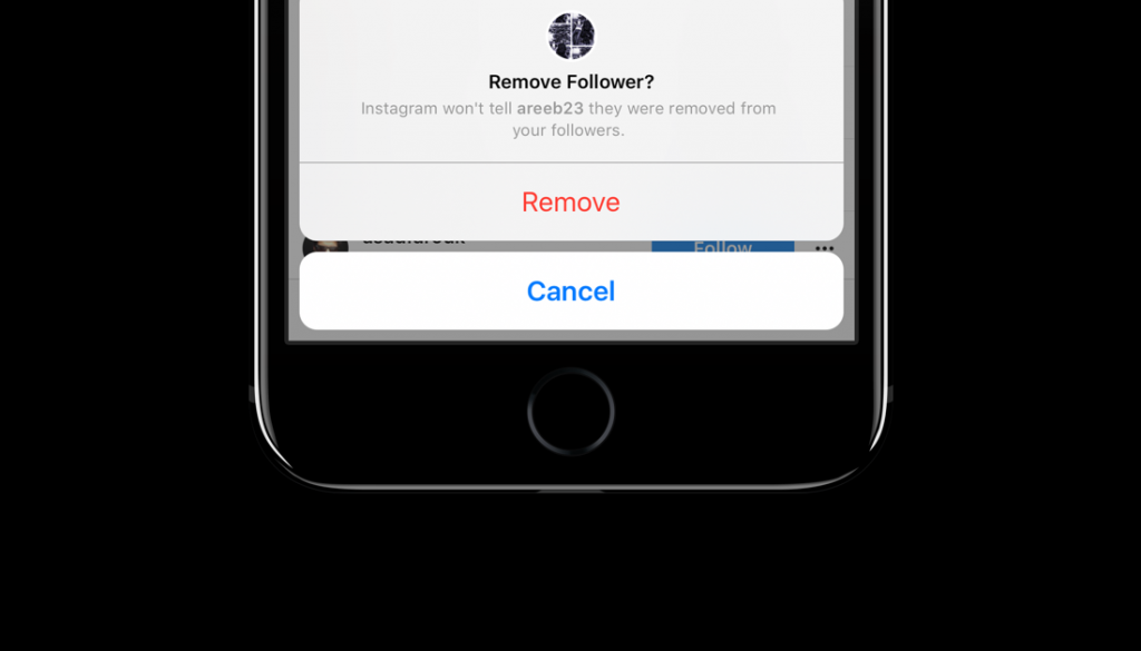 Remove followers from Instagram without blocking them