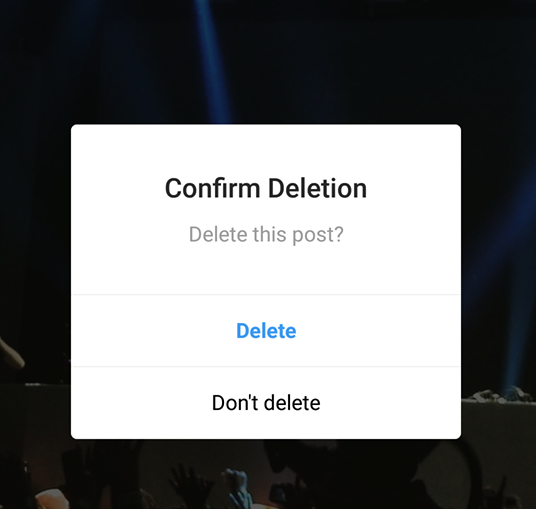 how to delete a post from Instagram using your phone