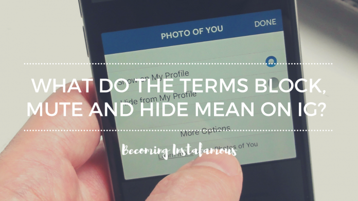 Blocking, muting and hiding on Instagram