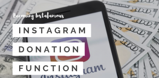 Instagram donation function