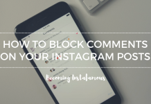 how to block someone from commenting on your posts