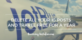 Travel one year for free by deleting your Instagram posts