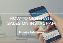 Generate sales on Instagram