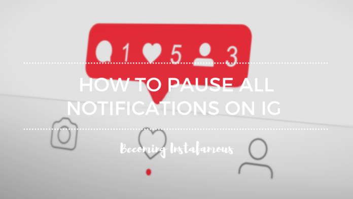 How to pause Instagram notifications