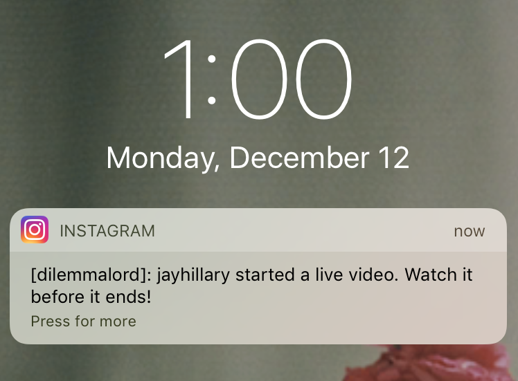 pause notifications on Instagram