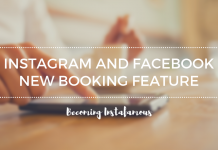 Instagram booking feature