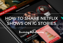 Netflix shows on Instagram Stories