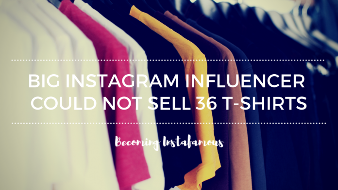 Instagram influencer T-shirt fail