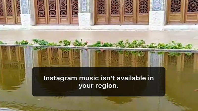 Instagram music not available