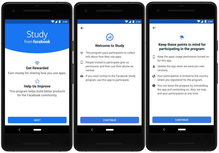 Facebook Study Research App