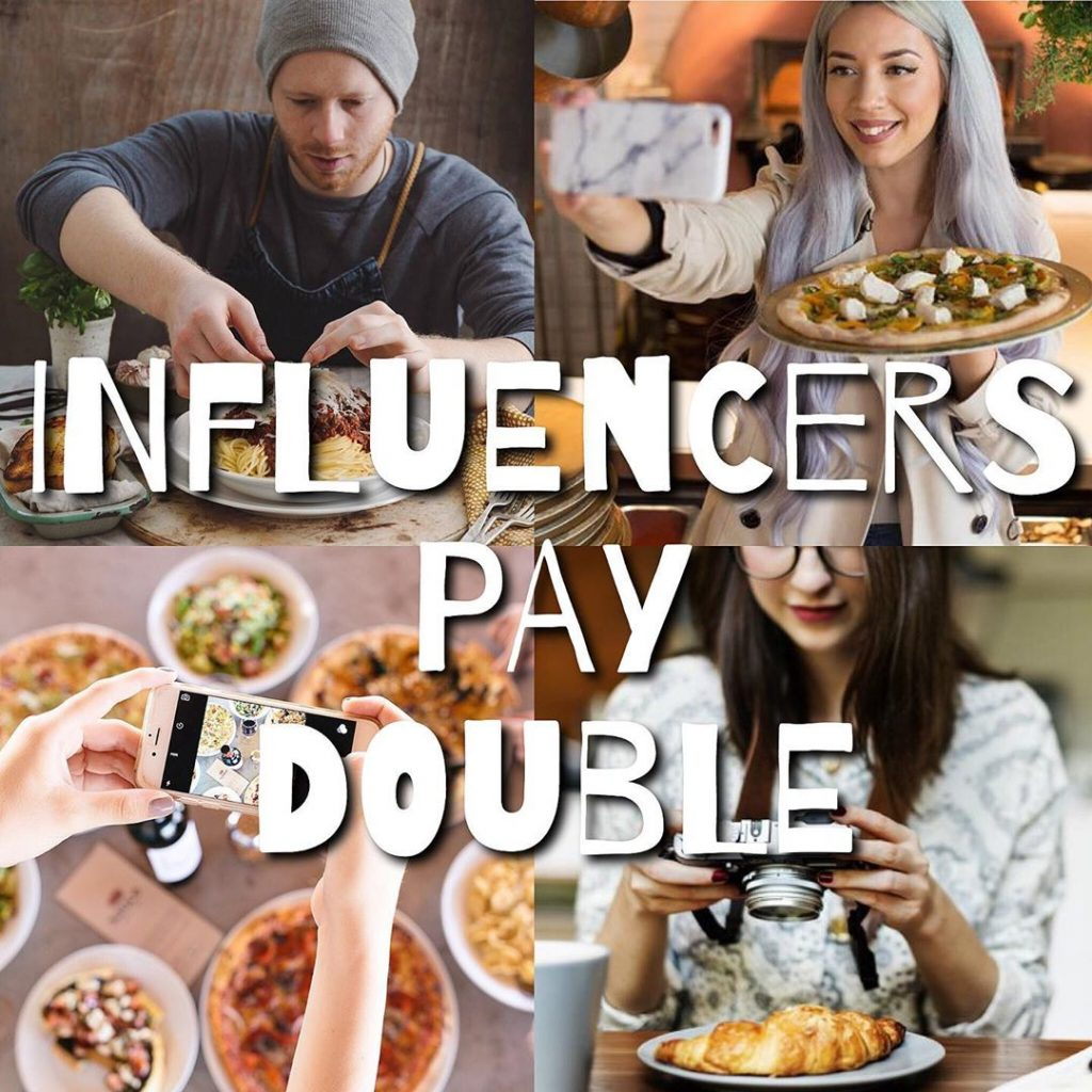 Influencers pay double