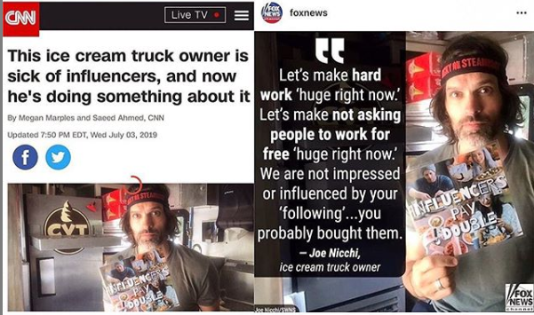 Ice cream truck owner vs influencers