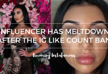 Influencer suffered meltdown