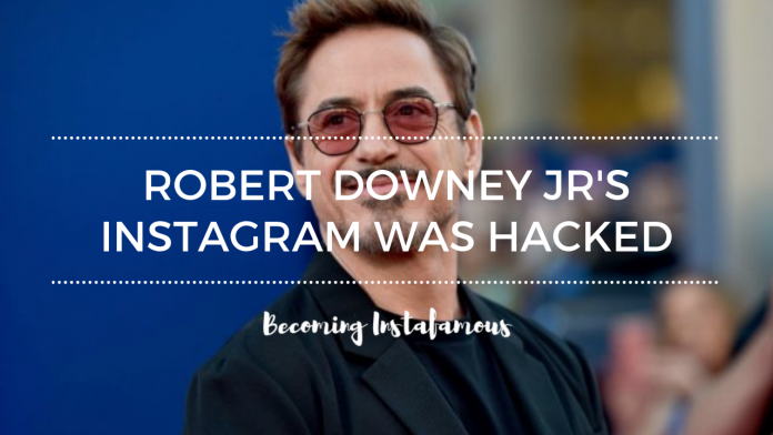 Iron Man Instagram account was hacked