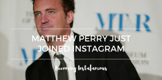 Matthew Perry on Instagram